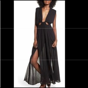 Astr the Label Black Maxi Dress, size L